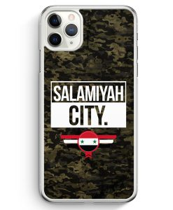iPhone 11 Pro Max Hardcase Hülle - Salamiyah City Camouflage Syrien