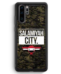 Huawei P30 Pro Silikon Hülle - Salamiyah City Camouflage Syrien