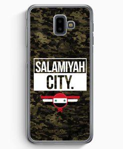Samsung Galaxy J6+ Plus (2018) Hardcase Hülle - Salamiyah City Camouflage Syrien