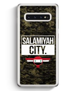 Samsung Galaxy S10+ Plus Hardcase Hülle - Salamiyah City Camouflage Syrien