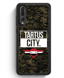 Huawei P20 Pro Hülle Silikon - Tartus City Camouflage Syrien