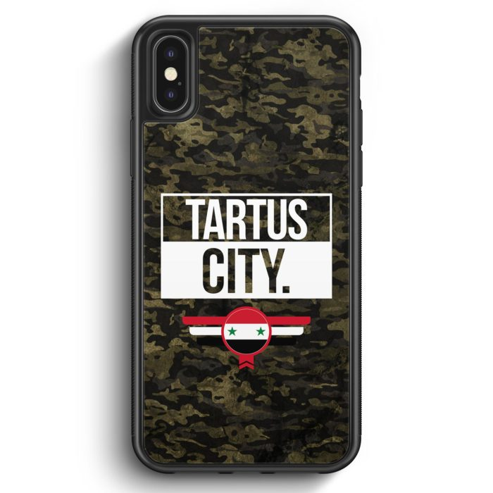 iPhone X & iPhone XS Silikon Hülle - Tartus City Camouflage Syrien
