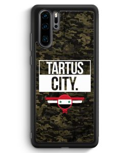 Huawei P30 Pro Silikon Hülle - Tartus City Camouflage Syrien