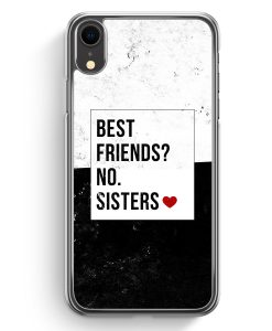 iPhone XR Hardcase Hülle - Best Friends? Sisters.