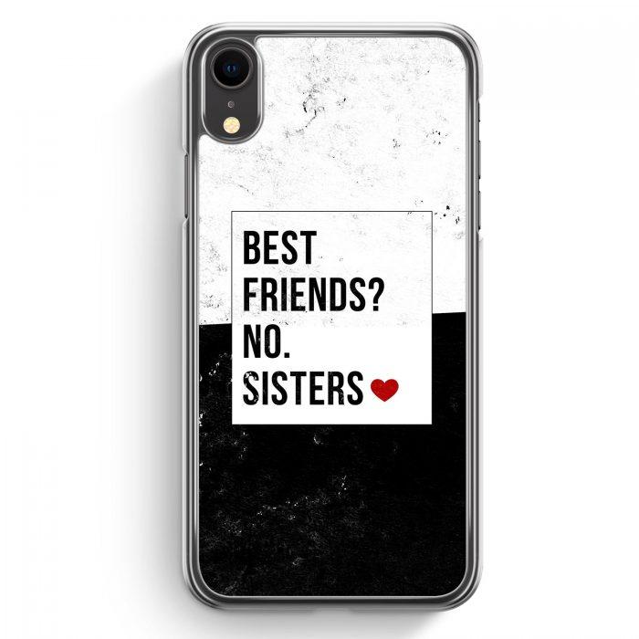 iPhone XR Hardcase Hülle - Best Friends? Sisters.