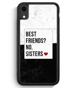 iPhone XR Silikon Hülle - Best Friends? Sisters.