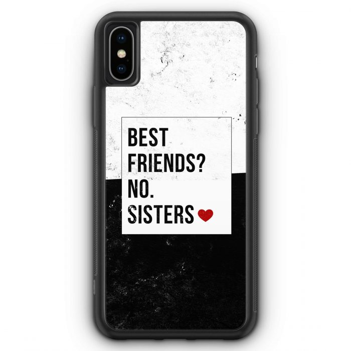 iPhone XS Max Silikon Hülle - Best Friends? Sisters.