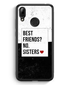 Huawei Y7 (2019) Silikon Hülle - Best Friends? Sisters.