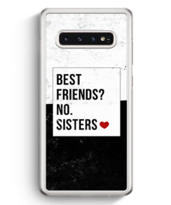 Samsung Galaxy S10+ Plus Hardcase Hülle - Best Friends? Sisters.