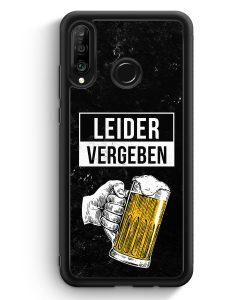 Huawei P30 Lite Silikon Hülle - Leider Vergeben Bier