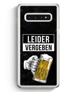 Samsung Galaxy S10+ Plus Hardcase Hülle - Leider Vergeben Bier