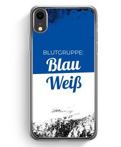 iPhone XR Hardcase Hülle - Blutgruppe Blau Weiß
