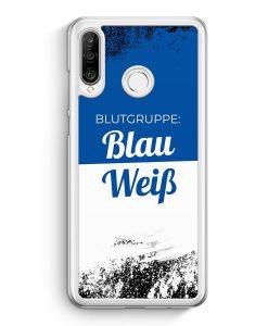 Huawei P30 Lite Hardcase Hülle - Blutgruppe Blau Weiß