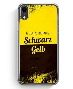 iPhone XR Hardcase Hülle - Blutgruppe Schwarz Gelb