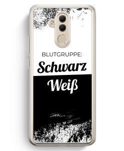 Huawei Mate 20 Lite Hardcase Hülle - Blutgruppe Schwarz Weiß