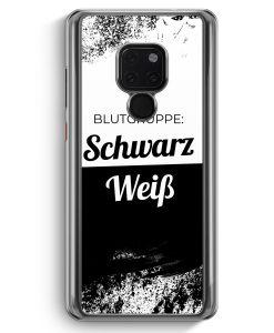 Huawei Mate 20 Hardcase Hülle - Blutgruppe Schwarz Weiß