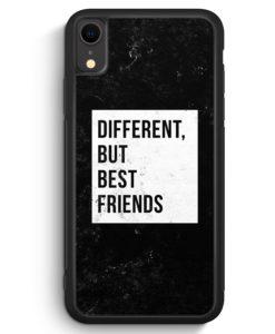iPhone XR Silikon Hülle - Different But Best Friends