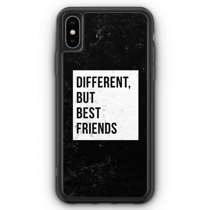 iPhone XS Max Silikon Hülle - Different But Best Friends