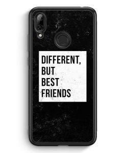 Huawei Y7 (2019) Silikon Hülle - Different But Best Friends