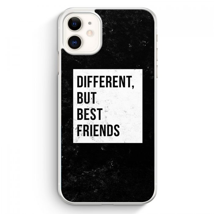iPhone 11 Hardcase Hülle - Different But Best Friends
