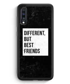 Samsung Galaxy A70 Silikon Hülle - Different But Best Friends
