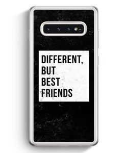Samsung Galaxy S10+ Plus Hardcase Hülle - Different But Best Friends
