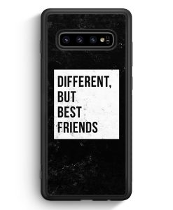 Samsung Galaxy S10 Silikon Hülle - Different But Best Friends
