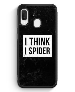 Samsung Galaxy A20e Silikon Hülle - I Think I Spider