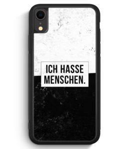 iPhone XR Silikon Hülle - Ich hasse Menschen
