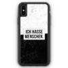iPhone XS Max Silikon Hülle - Ich hasse Menschen
