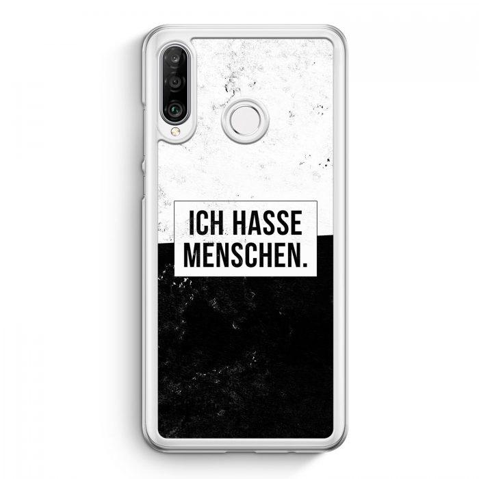 Huawei P30 Lite Hardcase Hülle - Ich hasse Menschen