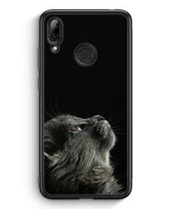 Huawei Y7 (2019) Silikon Hülle - Katze Himmel