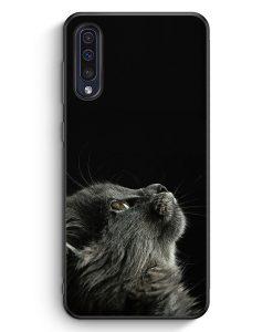 Samsung Galaxy A50 Silikon Hülle - Katze Himmel
