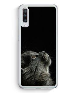 Samsung Galaxy A70 Hardcase Hülle - Katze Himmel