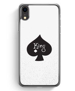 iPhone XR Hardcase Hülle - King Spielkarten #01