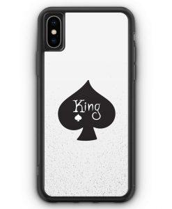 iPhone XS Max Silikon Hülle - King Spielkarten #01