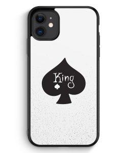 iPhone 11 Silikon Hülle - King Spielkarten #01