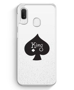 Samsung Galaxy A20e Hardcase Hülle - King Spielkarten #01