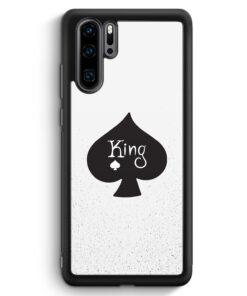 Huawei P30 Pro Silikon Hülle - King Spielkarten #01