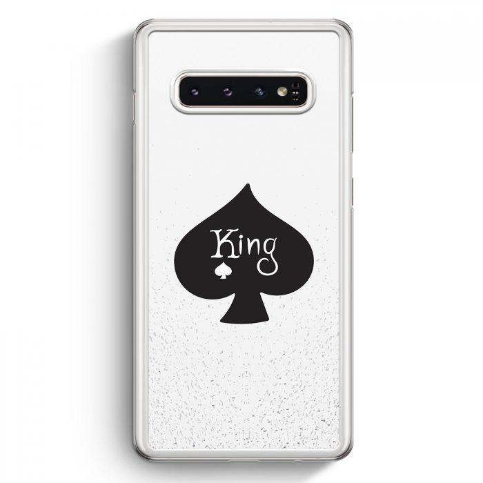 Samsung Galaxy S10+ Plus Hardcase Hülle - King Spielkarten #01