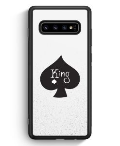 Samsung Galaxy S10e Silikon Hülle - King Spielkarten #01