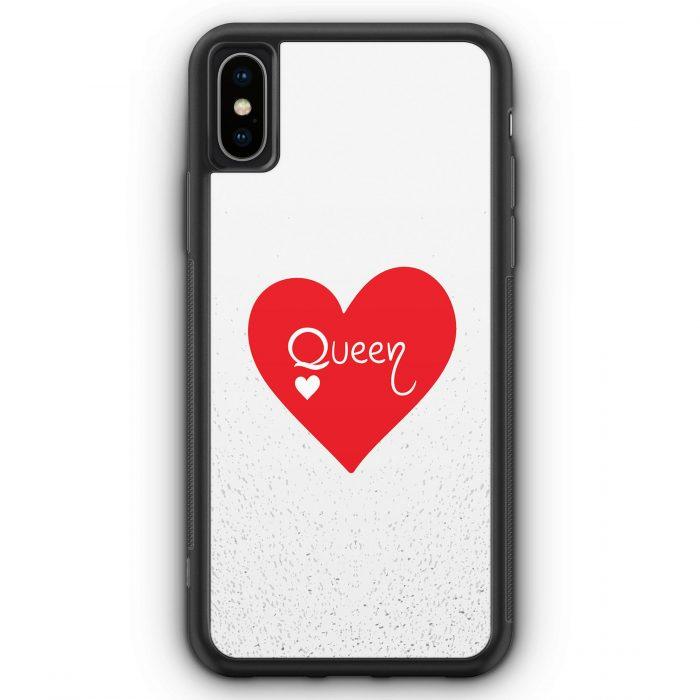 iPhone XS Max Silikon Hülle - Queen Spielkarten #02