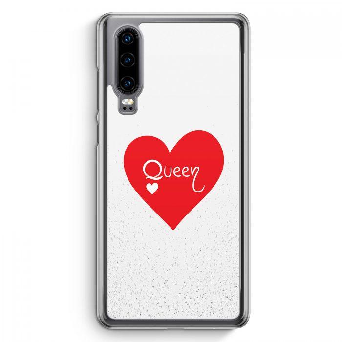 Huawei P30 Hardcase Hülle - Queen Spielkarten #02