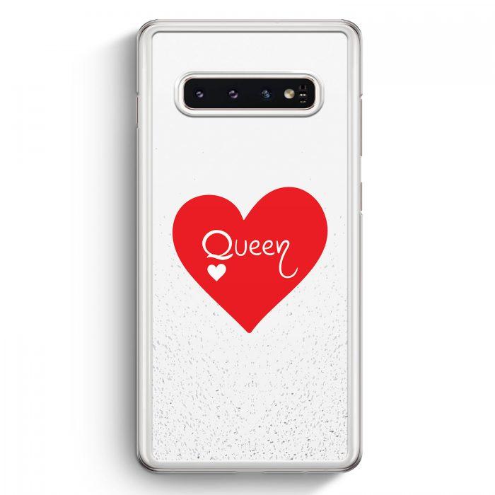 Samsung Galaxy S10+ Plus Hardcase Hülle - Queen Spielkarten #02