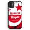 iPhone 11 Silikon Hülle - Kirmizi Beyaz Kanimiz Türkei Türkiye