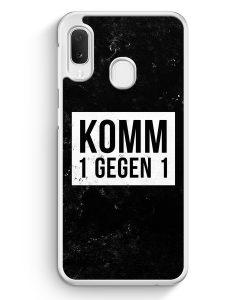 Samsung Galaxy A20e Hardcase Hülle - Komm 1 Gegen 1