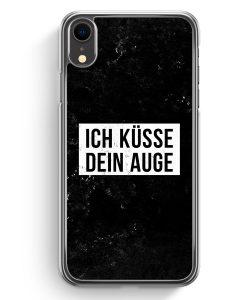 iPhone XR Hardcase Hülle - Ich Küsse Dein Auge