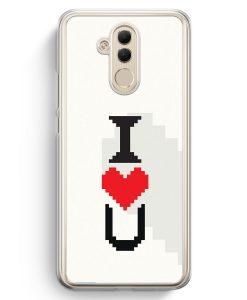Huawei Mate 20 Lite Hardcase Hülle - I Love U #01 Pixel