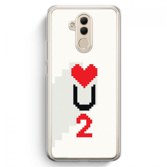 Huawei Mate 20 Lite Hardcase Hülle - Love U2 #02 Pixel