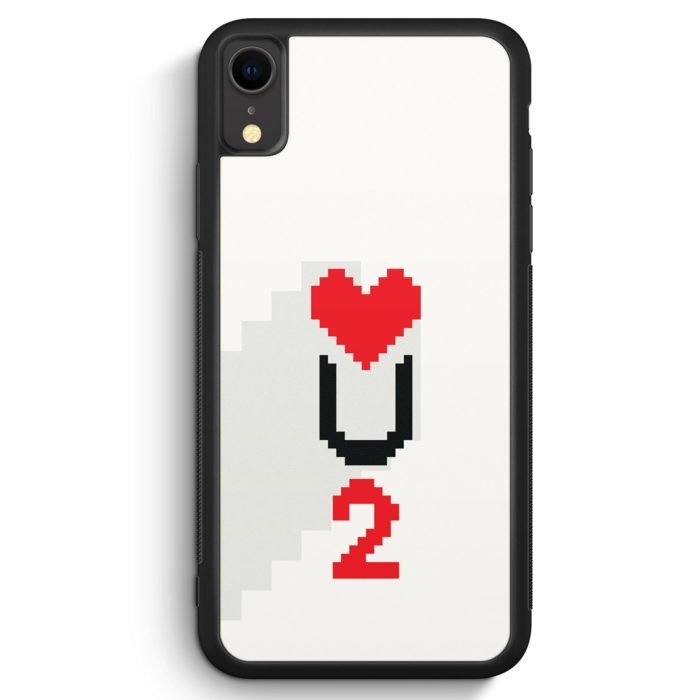 iPhone XR Silikon Hülle - Love U2 #02 Pixel